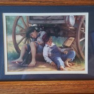 Vintage Americana framed art